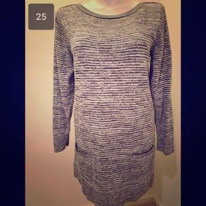 Gray sweater dress / tunic size xl